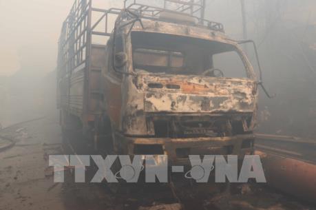 Cháy lớn tại Khu công nghiệp Phú Tài, tỉnh Bình Định