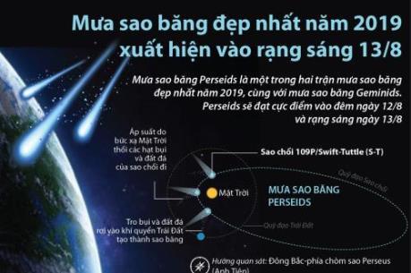 Mưa sao băng đẹp nhất năm 2019 xuất hiện vào rạng sáng 13/8