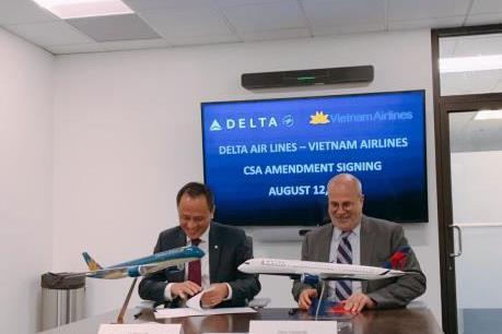 Vietnam Airlines và Delta Air Lines hợp tác kết nối Việt Nam - Mỹ