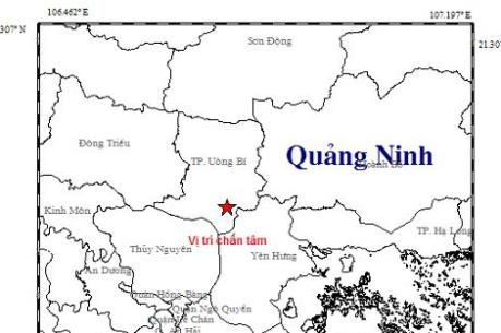 Động đất ở Uông Bí (Quảng Ninh) khả năng là động đất kích thích