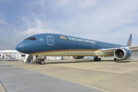Hình ảnh đầu tiên về 'siêu máy bay' Boeing 787-10 Dreamliner của Vietnam Airlines
