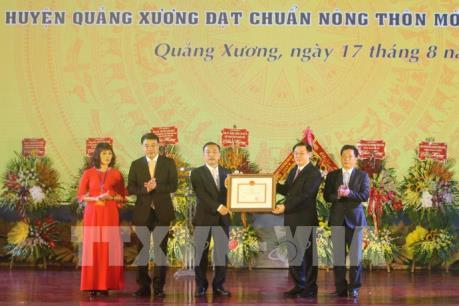 Thanh Hóa: Trao bằng công nhận huyện nông thôn mới cho Quảng Xương