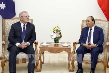 Thủ tướng Nguyễn Xuân Phúc đón, hội đàm với Thủ tướng Australia Scott Morrison