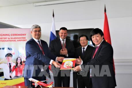 Vietjet hợp tác với sân bay Vladivostok của Nga