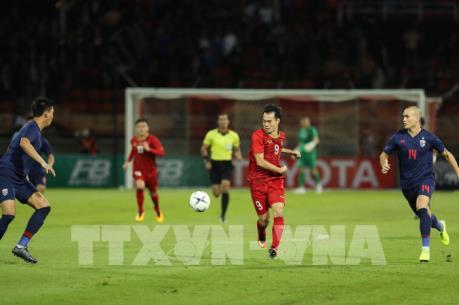 Những hình ảnh đầu tiên của trận bóng đá giữa đội tuyển Việt Nam-Thái Lan