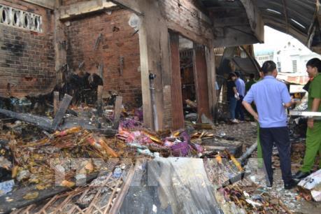 Cháy chợ tại Bình Phước làm thiệt hại gần 3 tỷ đồng