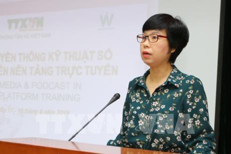 TTXVN tổ chức khóa học truyền thông số và tin âm thanh trên nền tảng online