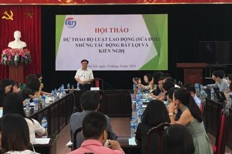 Nhiều kiến nghị sửa đổi liên quan đến dự thảo Bộ Luật Lao động