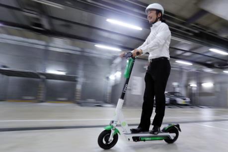 """Honda giới thiệu dịch vụ chia sẻ xe """"Hello scooter"""" đầu tiên tại Nhật Bản"""