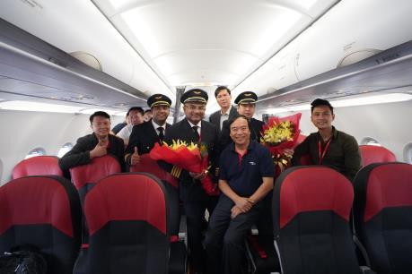 Vietjet đón tàu bay A321neo ACF 240 ghế đầu tiên trên thế giới