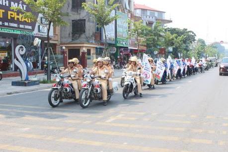 Honda phát động chiến dịch An toàn giao thông tại Vĩnh Phúc