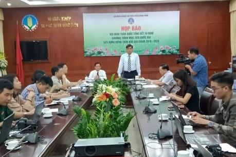 Ngày 18/10 diễn ra Hội nghị toàn quốc về tổng kết 10 năm xây dựng nông thôn mới