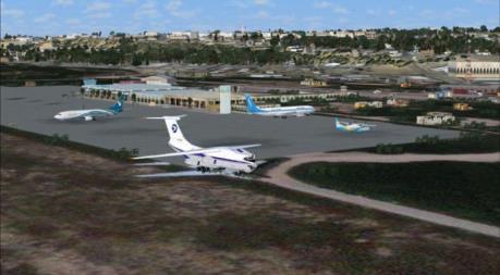 Sân bay quốc tế Mogadishu trúng pháo cối