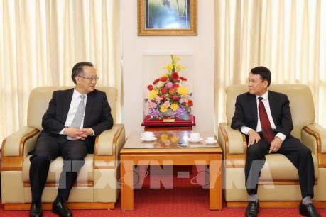 Tổng Giám đốc TTXVN tiếp Đoàn đại biểu Hãng thông tấn Tân Hoa xã (Trung Quốc)
