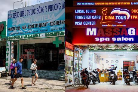 Bình Thuận: Chấn chỉnh tình trạng biển hiệu quảng cáo chỉ bằng tiếng nước ngoài