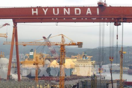 """Hyundai Heavy Industries công bố mảng đóng tàu """"làm ăn có lãi"""" trở lại"""