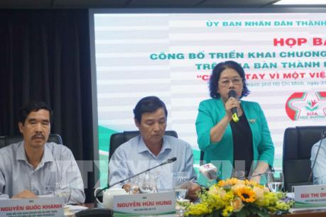Tp Hồ Chí Minh chính thức triển khai chương trình sữa học đường