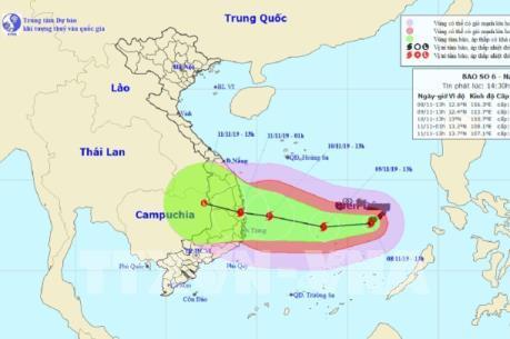 Ứng phó với bão số 6 tại Khánh Hòa