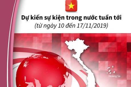 Dự kiến sự kiện trong nước tuần tới (từ ngày 10 đến 17/11/2019)
