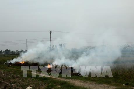 Hà Nội đốt rơm, rác gây nguy hại cho sức khoẻ con người