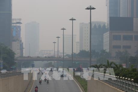 Chất lượng không khí Hà Nội ở mức vàng và cam