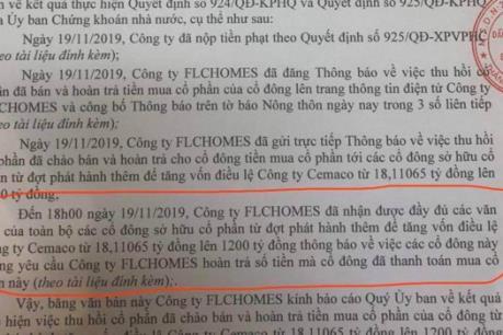 FLCHomes: Cổ đông không yêu cầu hoàn trả tiền mua cổ phần