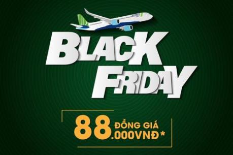 """""""Bamboo Airways Black Friday"""" áp dụng giá vé ưu đãi từ 88.000 VNĐ"""