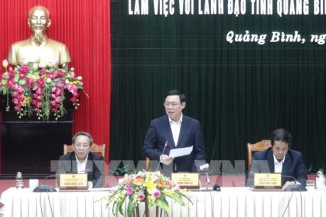 Phó Thủ tướng Vương Đình Huệ làm việc tại tỉnh Quảng Bình