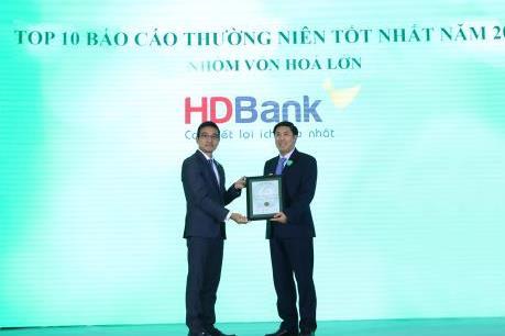HDBank vào top 10 doanh nghiệp niêm yết vốn hóa lớn có Báo cáo thường niên xuất sắc nhất