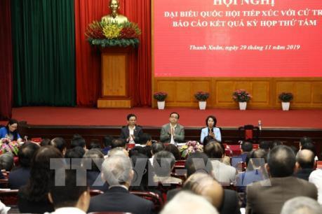 Bí thư Hà Nội giải đáp với cử tri về các tuyến đường chậm tiến độ