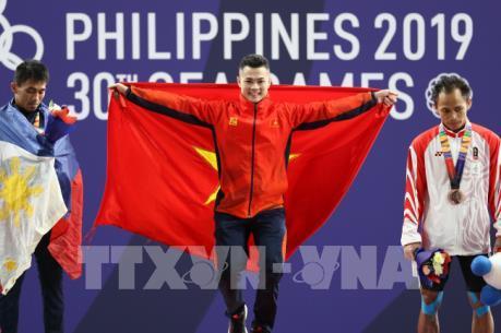 SEA Games 30: Lực sĩ cử tạ Lại Gia Thành đoạt HCV hạng 55 kg