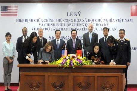 Việt Nam -Hoa Kỳ ký Hiệp định hỗ trợ lẫn nhau trong lĩnh vực hải quan
