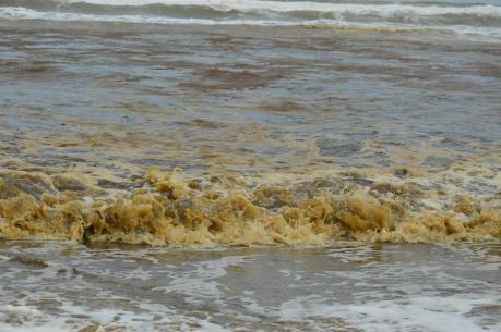 Nước biển đổi màu ở Quảng Ngãi: Một mẫu nước có nồng độ pH vượt ngưỡng cho phép