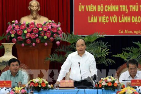 Thủ tướng Nguyễn Xuân Phúc làm việc với tỉnh Cà Mau