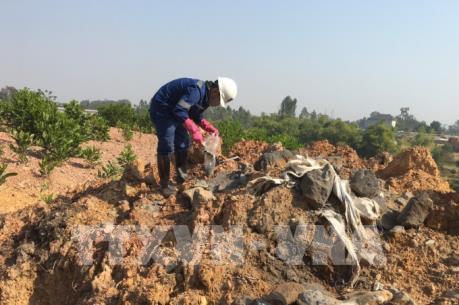 Xác định đối tượng chôn lấp trái phép chất thải tại huyện Sóc Sơn (Hà Nội)