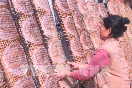 Làng nghề làm bánh đa nem nổi tiếng xứ Thanh vào vụ Tết
