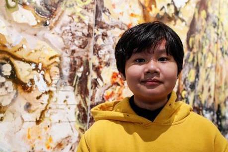 Danh họa nhí người Việt Nam lập kỷ lục bán tranh ở Mỹ