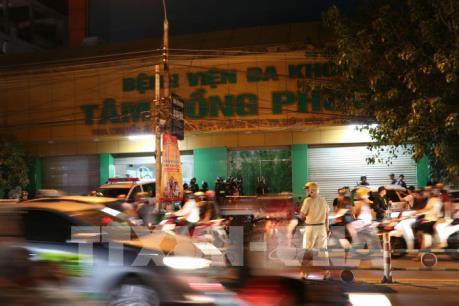 Tạm giữ 14 đối tượng gây rối tại bệnh viện Tâm Hồng Phước