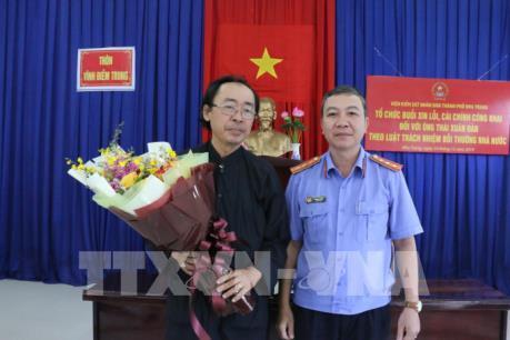 Viện Kiểm sát Nha Trang xin lỗi công khai người bị oan sai 18 năm