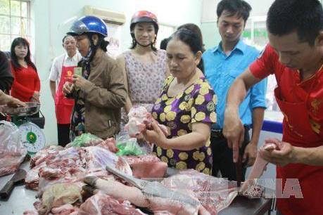 Giá thịt lợn tại Hà Nội có xu hướng giảm