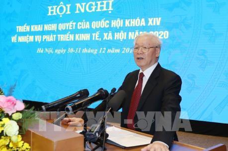 Tổng Bí thư, Chủ tịch nước Nguyễn Phú Trọng: Năm 2020 phải đạt nhiều thành tích hơn