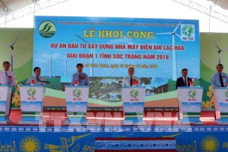 Sóc Trăng khởi công xây dựng nhà máy điện gió Lạc Hòa