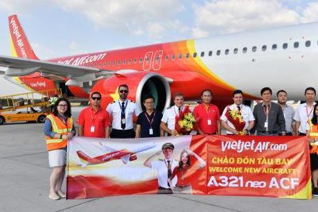 Vietjet đón thêm 2 tàu bay A321neo phục vụ cao điểm Tết