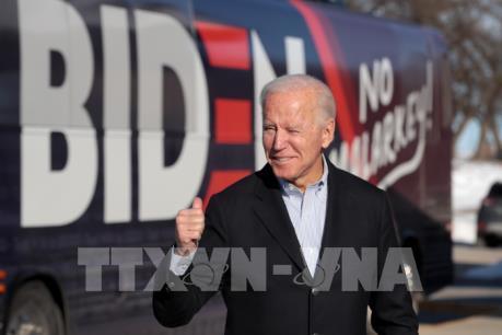 Bầu cử Mỹ 2020: Ông Joe Biden tiếp tục dẫn đầu danh sách ứng cử viên đảng Dân chủ