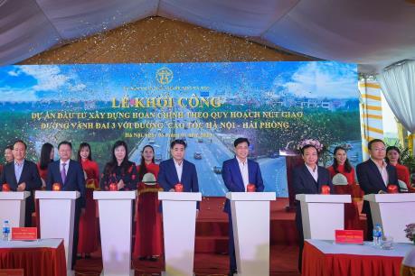 Xây dựng nút giao đường vành đai 3 với đường cao tốc Hà Nội – Hải Phòng