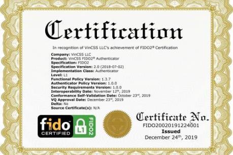 Vingroup là 1 trong 34 công ty đạt xác thực bảo mật FIDO2 toàn cầu