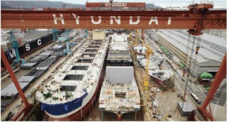 Hàn Quốc liên tiếp đứng đầu thế giới về đơn hàng đóng tàu
