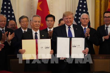 Trung Quốc: Thỏa thuận thương mại giai đoạn 1 giải quyết quan ngại của hai nước