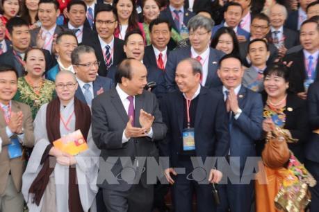 Thủ tướng đánh giá cao sự liên hệ, gắn bó của bà con kiều bào với Tổ quốc