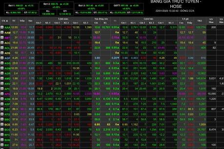 VN-Index duy trì sắc xanh trong phiên giao dịch cuối cùng của năm  Kỷ   Hợi